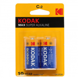 Батарейка алкалиновая, C (LR14), 2шт, блистер с европодвесом Kodak 311