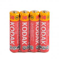Батарейка солевая, R03, 4шт, без блистера Kodak Б0005139