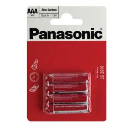 Батарейка солевая, R03, 4шт, блистер с европодвесом Panasonic 182