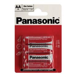 Батарейка солевая, R06, 2шт, блистер с европодвесом Panasonic 166