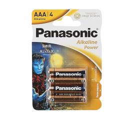 Батарейка алкалиновая, LR03, 4шт, блистер с европодвесом Panasonic УТ-00000516