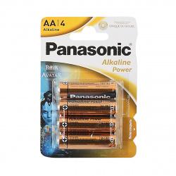 Батарейка алкалиновая, LR06, 4шт, блистер с европодвесом Panasonic УТ-00000517
