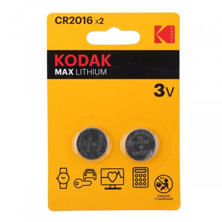 Батарейка Kodak литий CR2016 2*BL