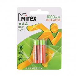 Аккумулятор Mirex HR03 1000 AAАHC   2*BL