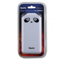 Аккумулятор мобильный PowerBank Buro RA-10000PD-WT Li-Pol 10000mAh 2.1A белый 2xUSB