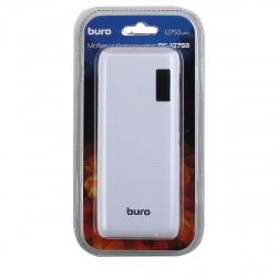 Аккумулятор мобильный PowerBank Buro RC-12750W Li-Ion 12750mAh 1A+1A белый 2xUSB