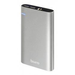 Аккумулятор мобильный PowerBank Buro RCL-21000 Li-Pol 21000mAh 2.1A серебристый 2xUSB