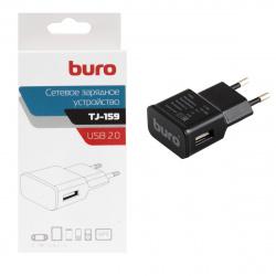 Зарядное устройство сетевое СЗУ Buro TJ-159b, 2.1А, универс, черный