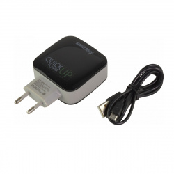 Зарядное устройство сетевое СЗУ SmartBuy Voxi, 3Ax1 Quick Charge + 2.4Ax2, черный (SBP-0111)