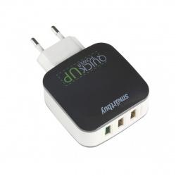 Зарядное устройство сетевое СЗУ SmartBuy BLAST, 3Ax1 Quick Charge + 2.4Ax2, microUSB, черный (SBP-110)