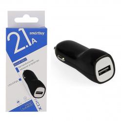 Зарядное устройство автомобильное АЗУ Smartbuy NOVA MKII, 2.1 A х 1USB, черное (SBP-1503)